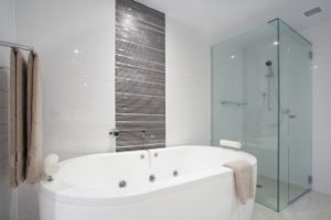 fresh new bathroom - softened water will keep bathroom free from limescale